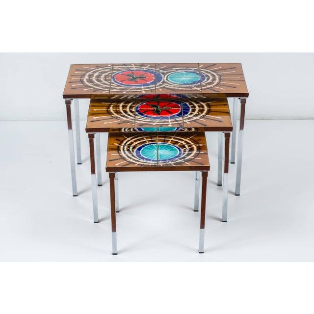 Metal 1970s Belgian Juliette Belarti Nesting Tables - Set of 3 For Sale - Image 7 of 7