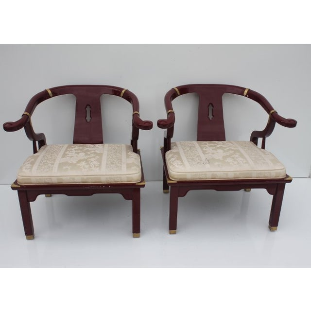 James Mont Chairs by Century a Pair. - Image 4 of 8