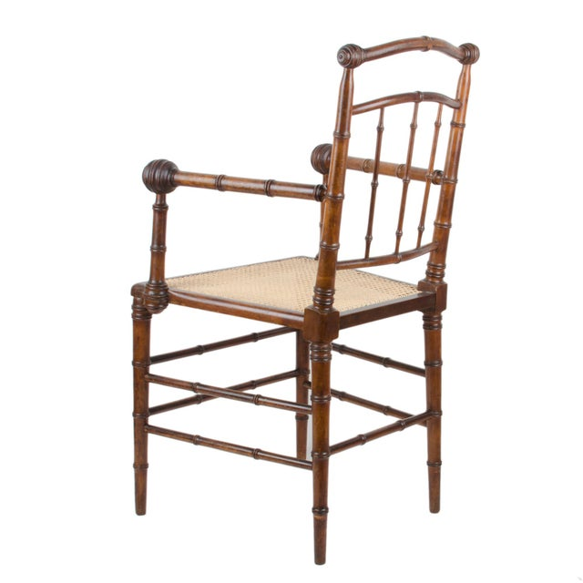R.J. Horner & Co. Faux-Bamboo Armchair - Image 5 of 10