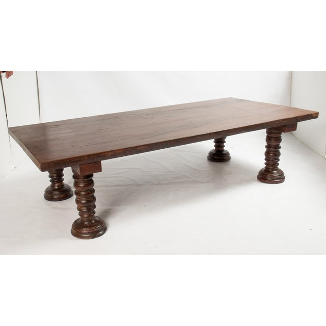 Vintage South Indian Solid Wood Table - Image 2 of 4