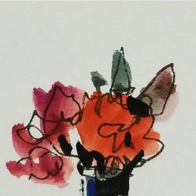 Up for sale: A one-of-a-kind watercolor painting by impressionist artist Jose Trujillo. Measurements: 3 x 3 inches Medium:...