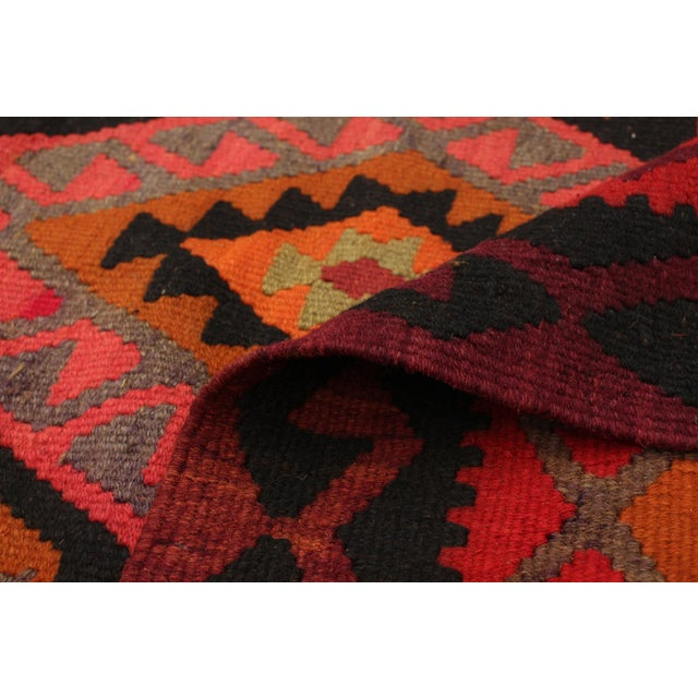 "Textile Turkish Kilim Rug-5'7"" X 13'3"" For Sale - Image 7 of 9"