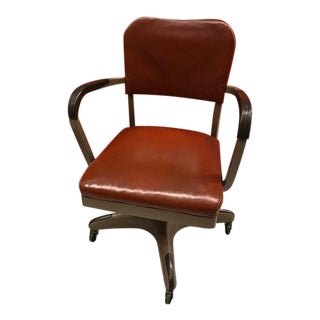 1960s All-Steel Swivel Desk Chair For Sale
