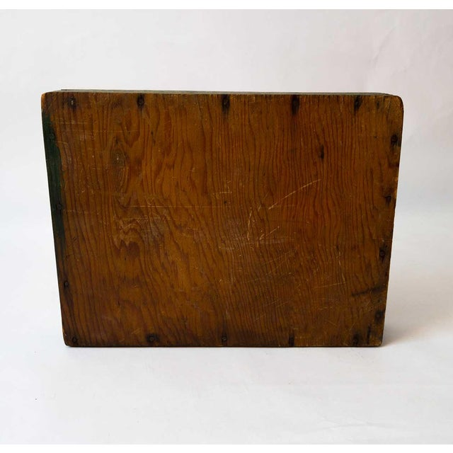 Wood Rustic Forest Green Berry Carrier For Sale - Image 7 of 8