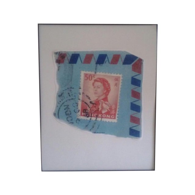 Reproduced Vintage Stamp of Queen Elizabeth II For Sale