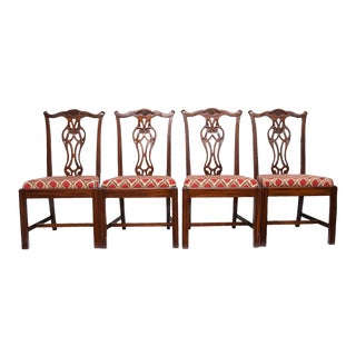 C.1960s Chippendale Style Chairs - Set of 4