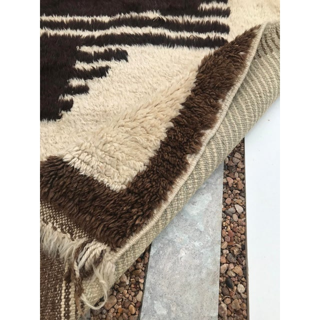 """1950s Hand Made Vintage Turkish Area Tulu Rug- 4'4""""x 5'9"""" For Sale - Image 5 of 8"""
