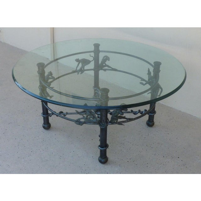 Vintage Wrought Iron Monkeys Coffee Table For Sale In Miami - Image 6 of 10