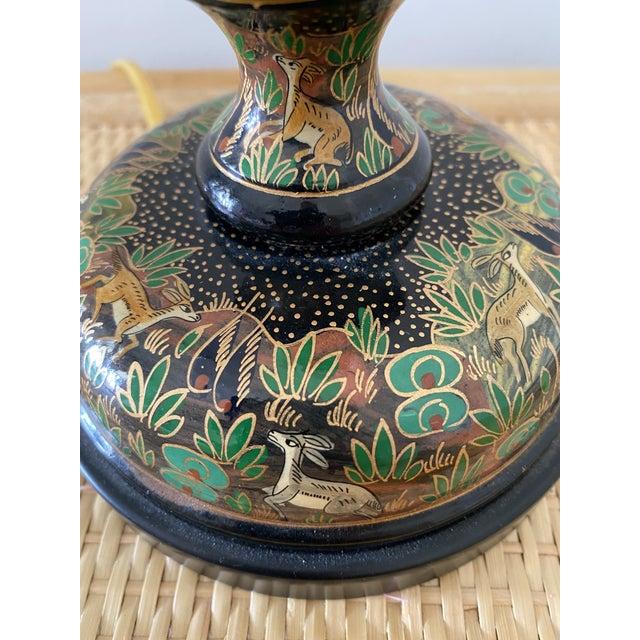 Traditional Vintage Frederick Cooper Cloisonné Table Desk Lamp For Sale - Image 3 of 8