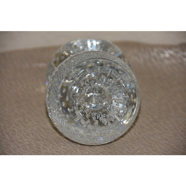 1900 - 1909 Mid-Century Crystal Match Holder With Striker Marked Webb For Sale - Image 5 of 12