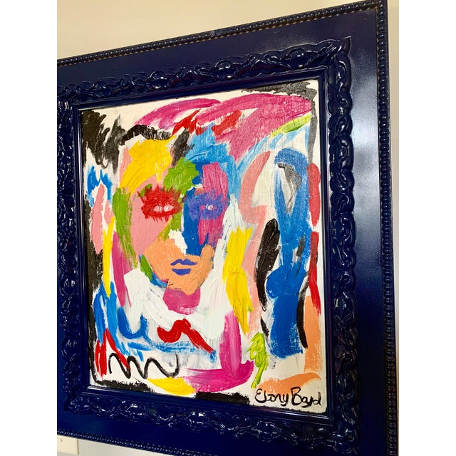 Abstract Ebony Boyd Framed Abstract Painting For Sale - Image 3 of 4