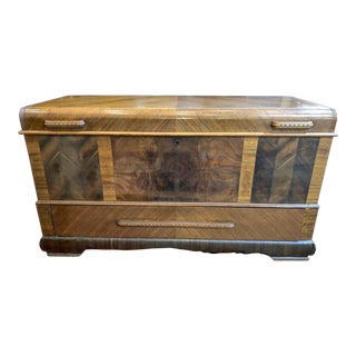1940s Lane Furniture Waterfall Blanket Chest For Sale