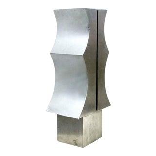 Modernist Aluminum Sculpture by Yutaka Toyota 'Japan/Brazil circa 1970' For Sale
