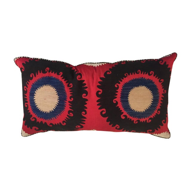 Handmade Silk Suzani Pillow - Image 1 of 5