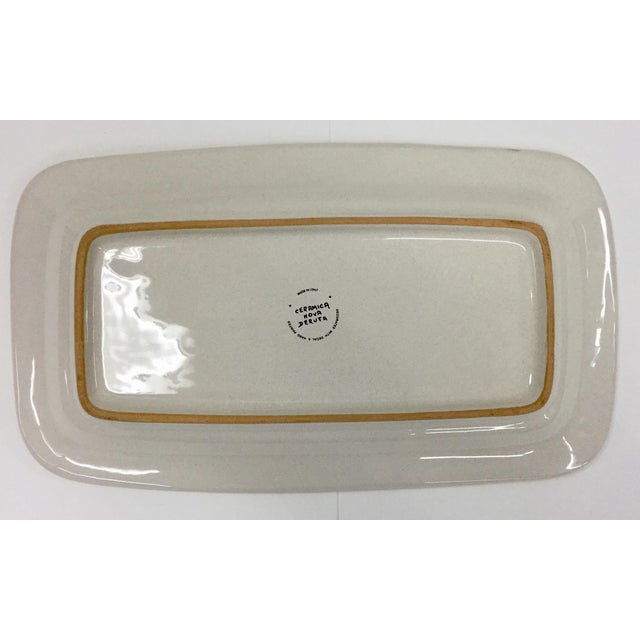 Blue Vintage Italian Ceramica Nova Deruta Hand Painted Platter For Sale - Image 8 of 10