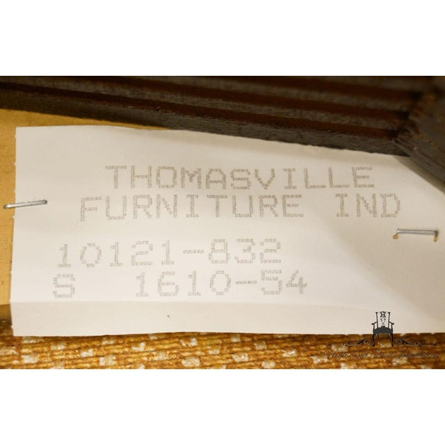 Late 20th Century Vintage Thomasville Furniture Collectors Cherry Arm Chair For Sale - Image 11 of 13