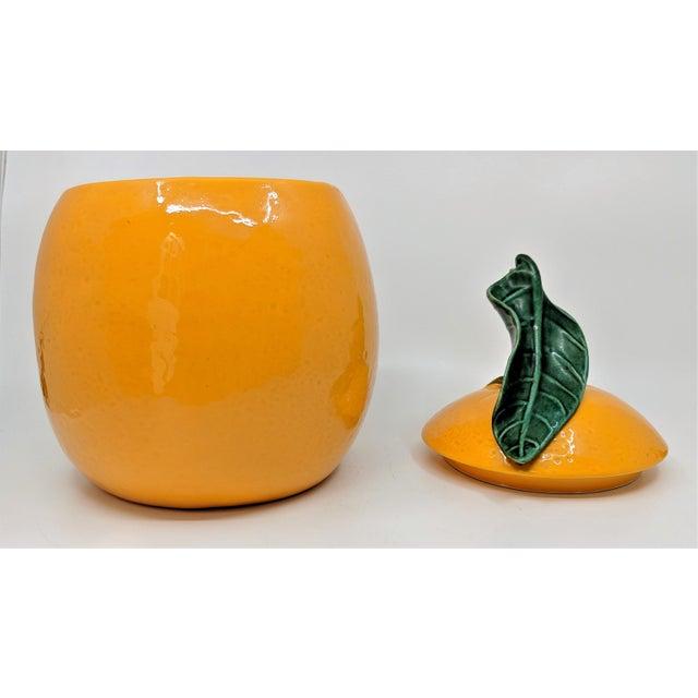 1970s Vintage Ceramic Orange Fruit Cookie Jar For Sale - Image 5 of 11