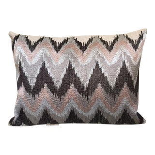 Embroidered Design on Down Bolster Pillow For Sale