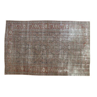 "Vintage Distressed Mahal Carpet - 5'8"" X 8'8"" For Sale"
