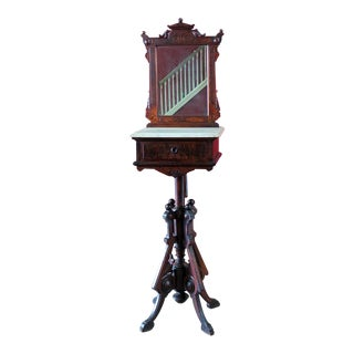 Victorian Shaving Stand For Sale