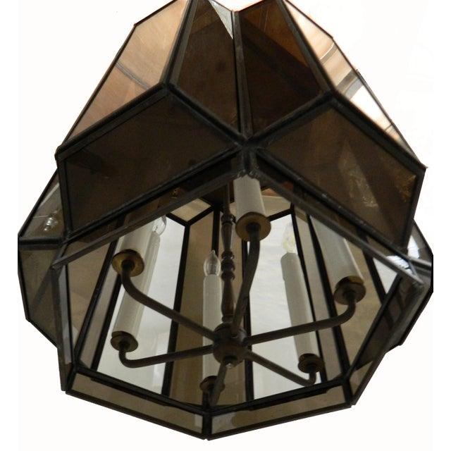 Vintage Brass Hanging Lanterns - Pair For Sale - Image 5 of 8