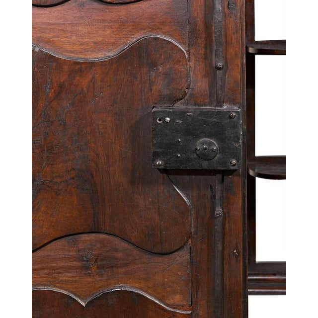 Walnut French Provincial Double Door Armoire For Sale - Image 7 of 9
