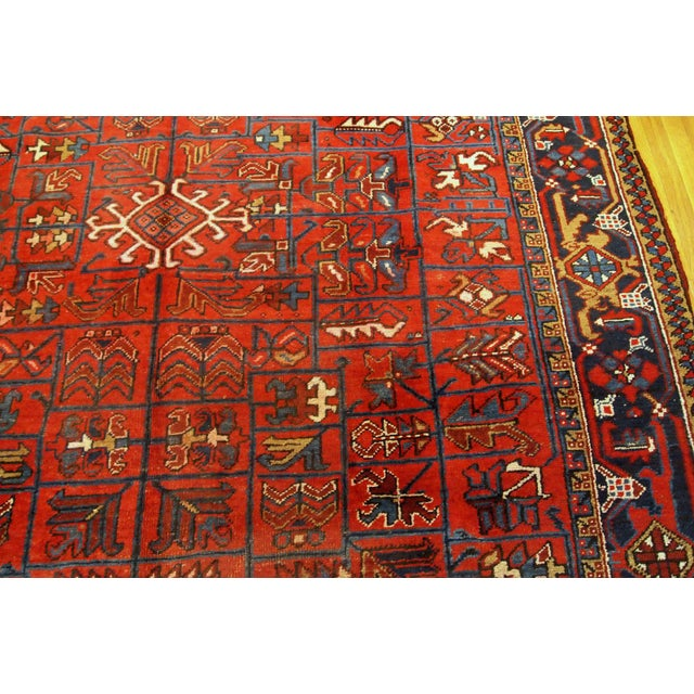 1900s Handmade Antique Persian Heriz Rug 7.3' X 10.1' For Sale - Image 4 of 11