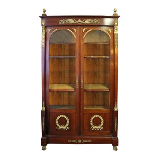 French Second Empire Napoleon III Ormolu-Mounted Mahogany Bookcase For Sale
