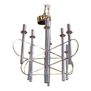 Sciolari Chrome & Brass Chandelier