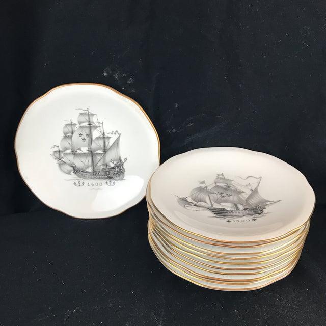 Rostrand Ship Porcelain Plates - Set of 11 For Sale - Image 11 of 11