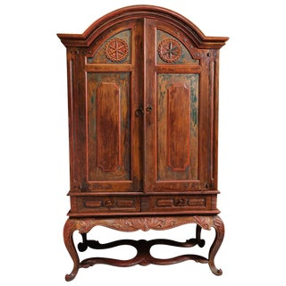 Dutch Colonial Painted Cabinet For Sale