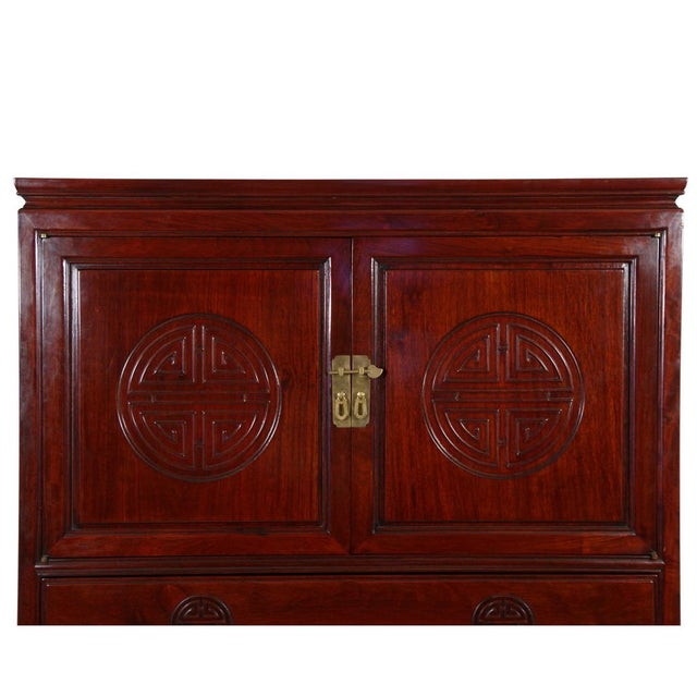 1950s Chinese Antique Rosewood Cabinet For Sale - Image 5 of 10 - Chinese Antique Rosewood Cabinet Chairish