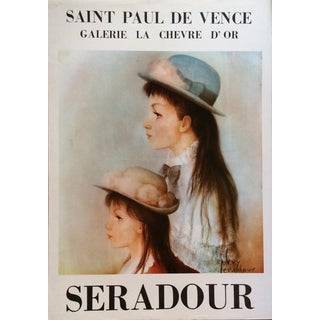 1970's Vintage Original French Exhibition Art Poster by Guy Seradour For Sale