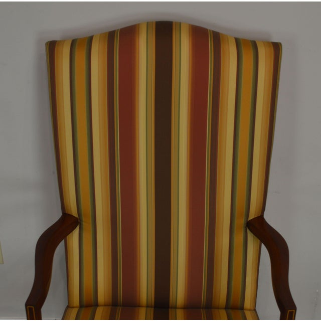 Wood Stickley Colonial Williamsburg Collection Mahogany Martha Washington Lolling Arm Chair For Sale - Image 7 of 13