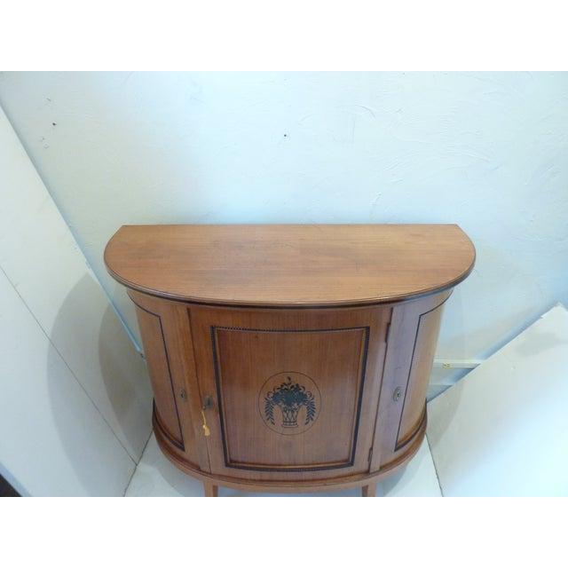 Neoclassical Biedermeier Style Demi-Lune Buffet For Sale - Image 3 of 10