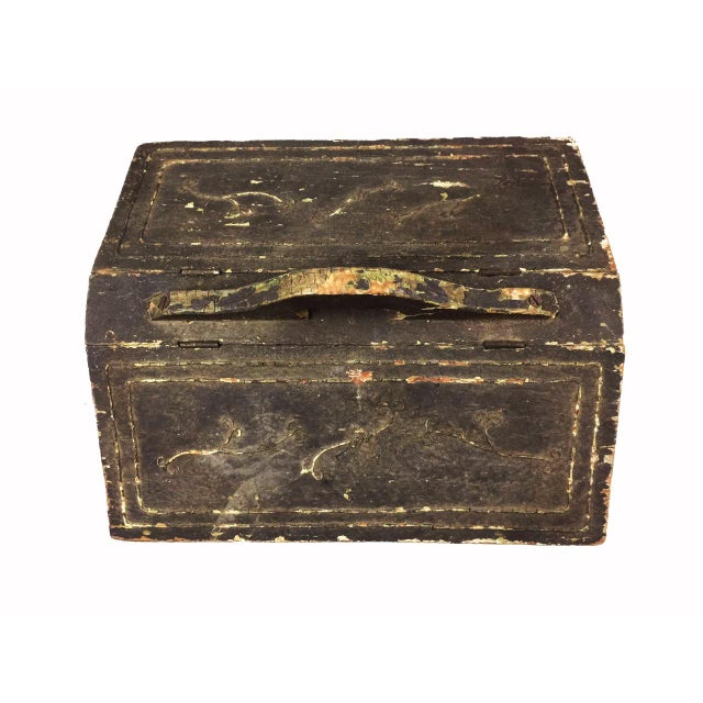 Antique Victorian Wooden Standing Sewing Box - Image 3 of 6