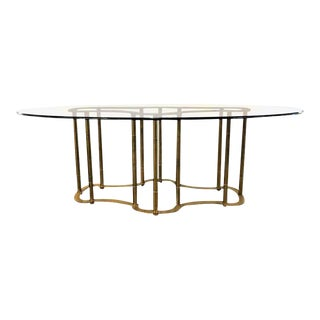Maison Jansen Bamboo Form Chinese Inspired Dining Table