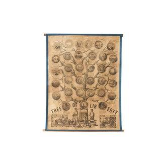 Rare Pre-Civil War Tree of Liberty Poster For Sale