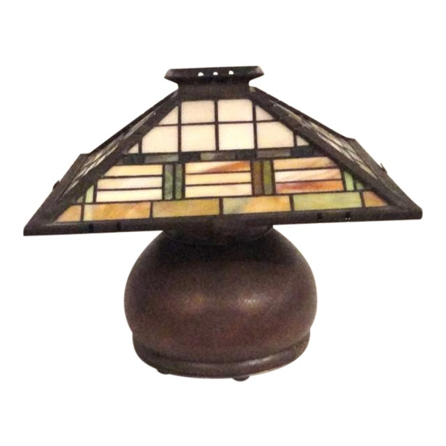 Fantastic Bronze Signed Arts & Crafts Table Lamp - Image 1 of 7