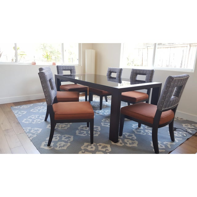 Calligaris Black Glass Dining Table & 6 Dining Chairs - Image 2 of 8
