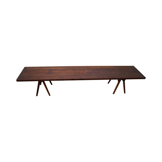 Studio Made Solid Walnut Long Low Table/Bench - Image 1 of 10