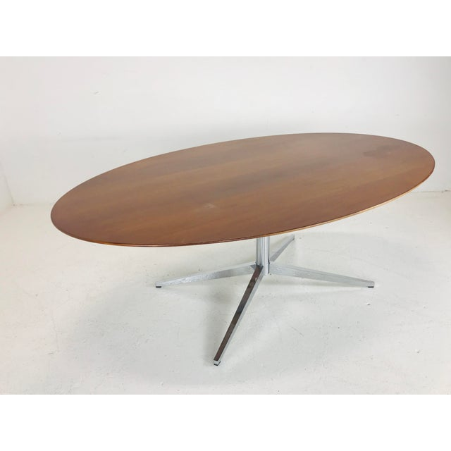 Brown Florence Knoll Dining Table/Desk/Conference Table For Sale - Image 8 of 8