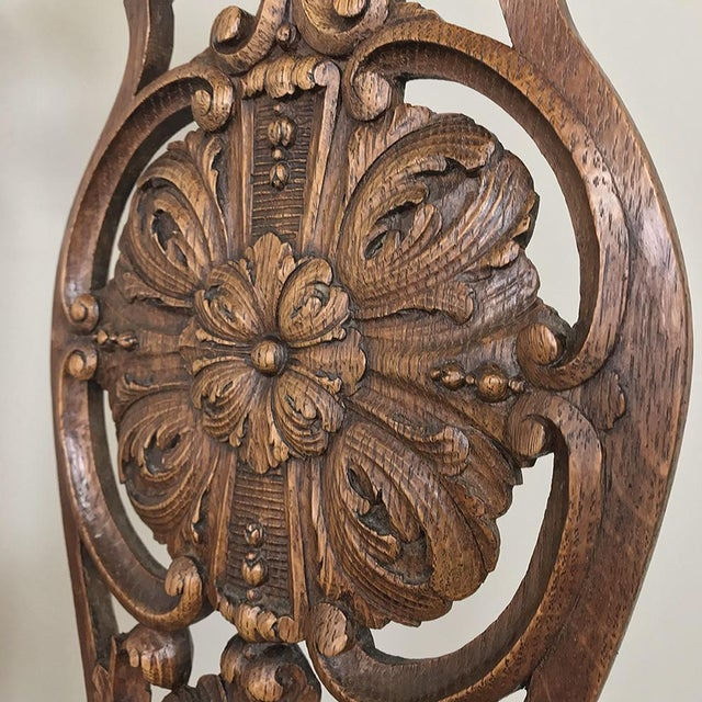 Wood Pair 19th Century Liegoise Louis XIV Armchairs For Sale - Image 7 of 12