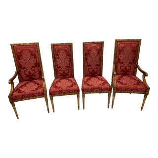 Louis XVI French Gilded Chairs - Set of 4 For Sale