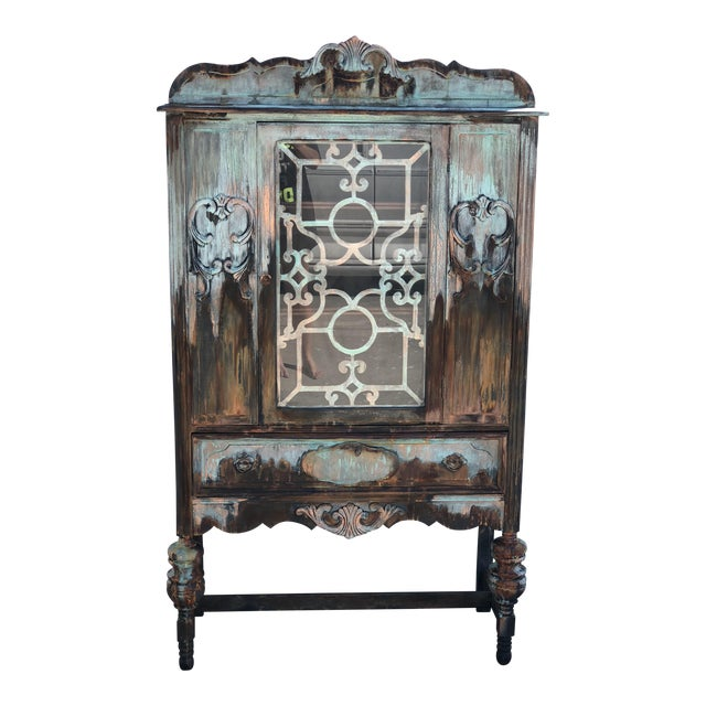 Copper and Rust Patina Cabinet - Image 1 of 8