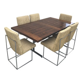 1960s Mid Century Modern Milo Baughman for Thayer Coggin Dining Set - 7 Pieces For Sale
