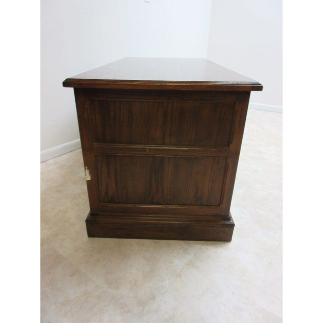 Ethan Allen Royal Charter Jacobean Carved Writing Office Desk - Image 5 of 8