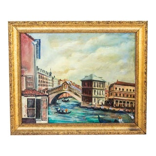 Signed Oil Painting - Venice Italy For Sale