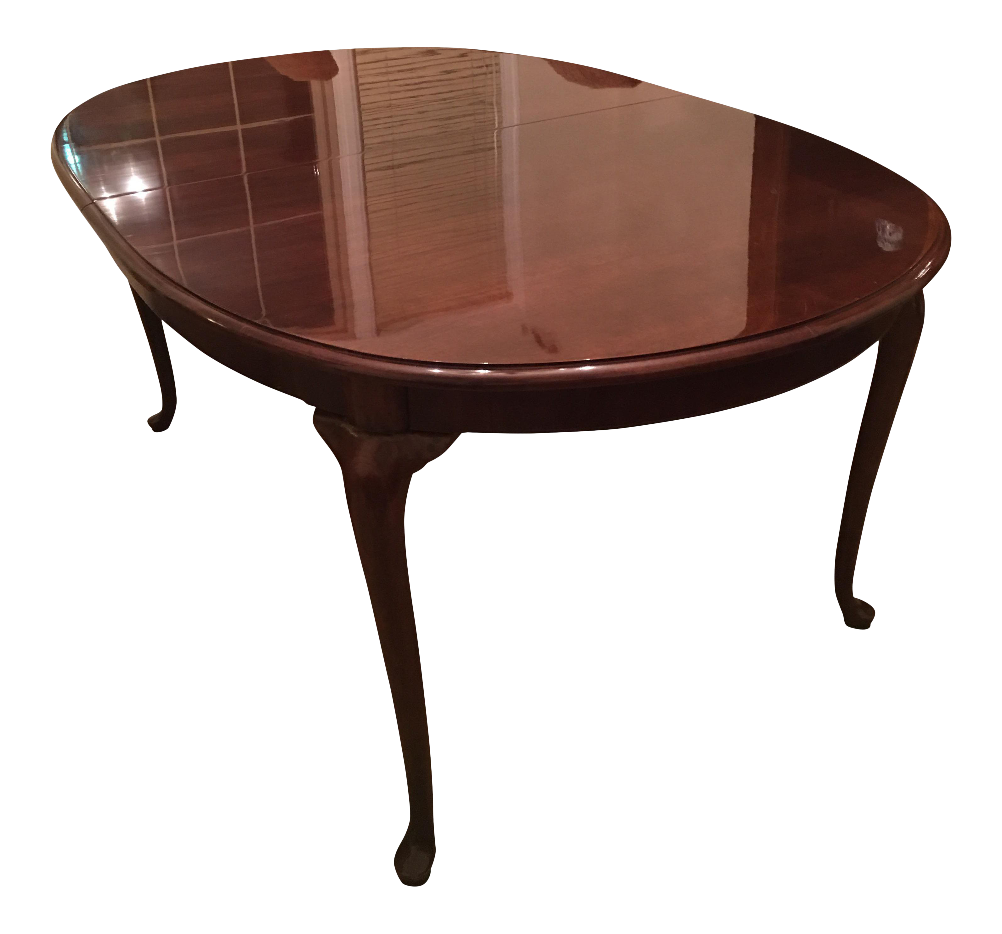 queen anne dining table vintage style thomasville cherry queen anne dining table chairish