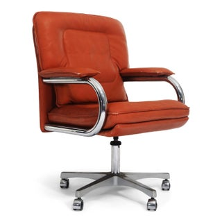 Guido Faleschini for I4 Mariani, Pace Collection, Leather Management Desk Chairs Preview